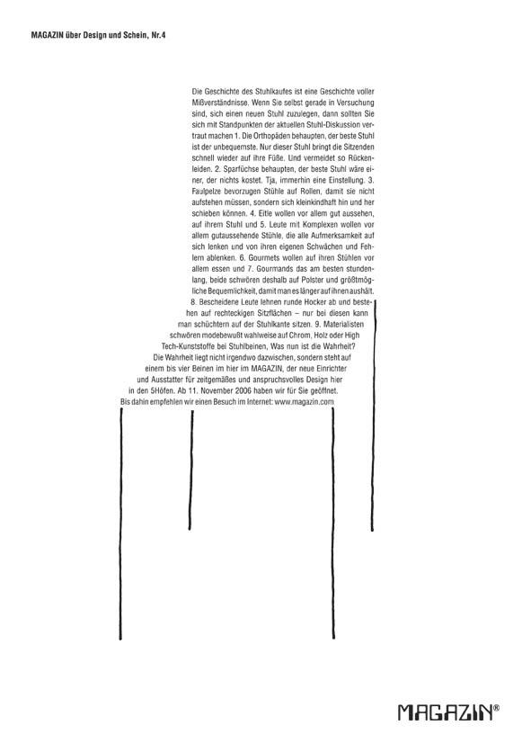 Design und Text: Die Magazin-Kampagne.