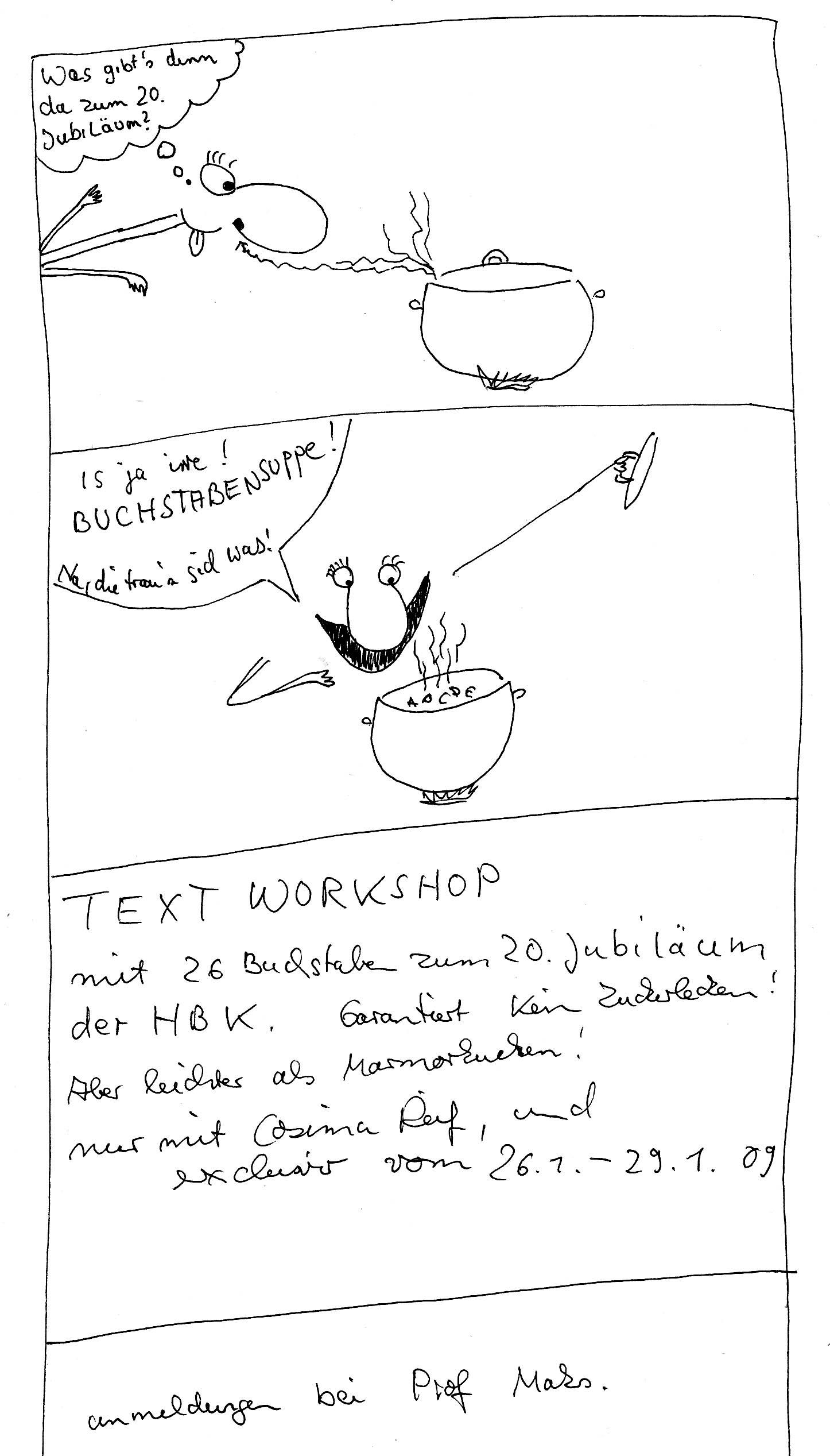 Text-Workshop in Saarbrücken.